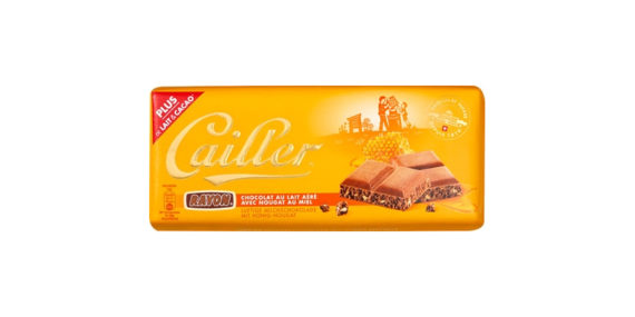 Cailler Rayon Milk Chocolate with Honey Nougat - 100g