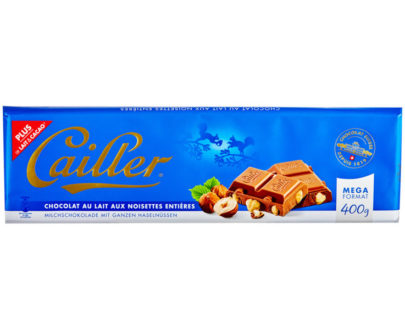 Cailler Milk Chocolate Bar with Hazelnuts - 400g