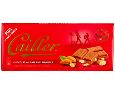 Cailler Milk Chocolate Bar with Almonds - 100g