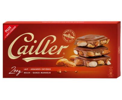 Cailler Milk Chocolate Bar with Almonds- 200g