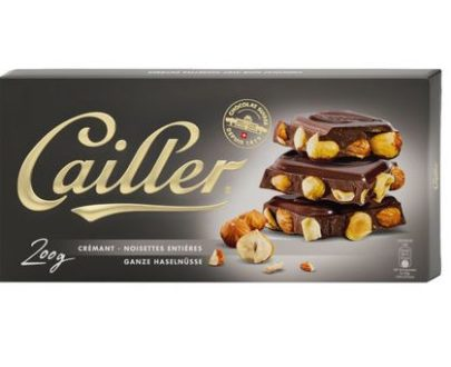 Cailler Crémant Chocolate Bar with Whole Hazelnuts - 200g