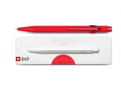 Caran d'Ache - 849 CLAIM YOUR STYLE ballpoint pen Scarlet red